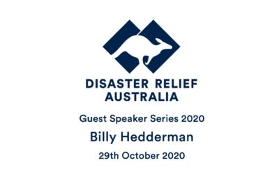 DRA Guest Speaker Series 2020 with Billy Hedderman