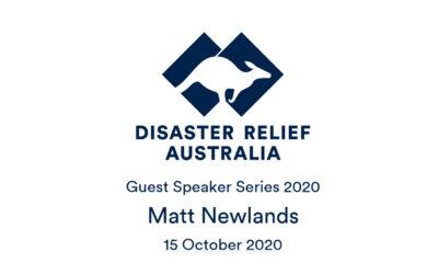 DRA Guest Speaker Series with Matt Newlands