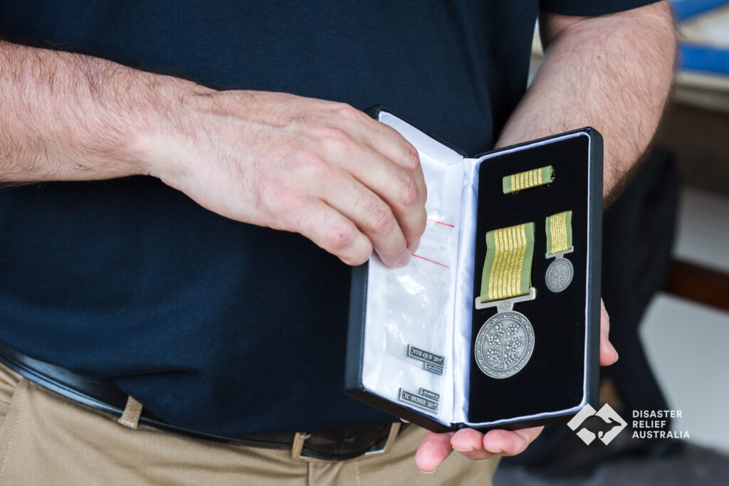 Disaster Relief Australia's Members awarded the National Emergency Medal 7