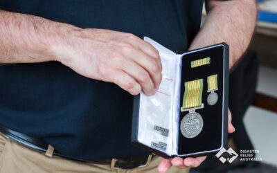 Disaster Relief Australia's Members awarded the National Emergency Medal