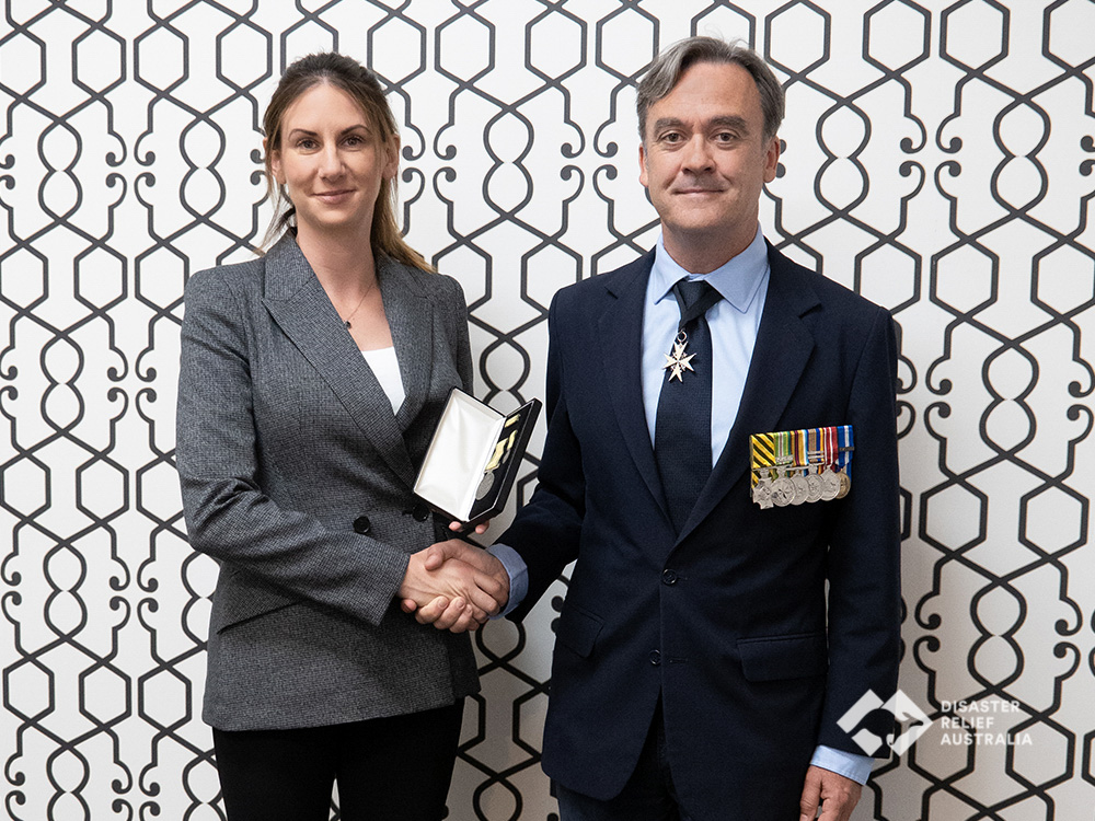 Disaster Relief Australia's Members awarded the National Emergency Medal 2
