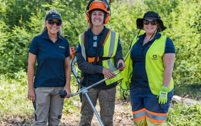 Bec, Tegan and Samatha from Keno volunteered on Operation Corkhill