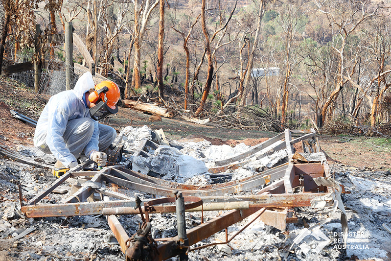 sifting for WA fire affected communities
