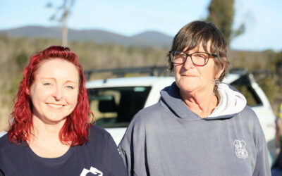 A fence at the front of the property again – bushfire impacted homeowner Judy
