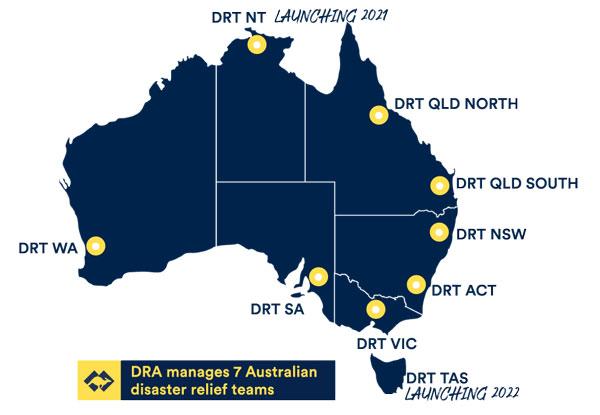 disaster relief teams across australia