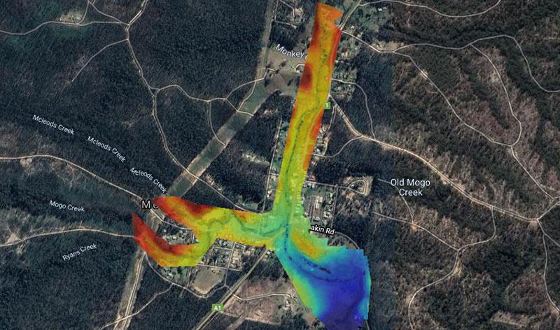 Mogo - NSW - Flood Analysis using Digital Elevation Model